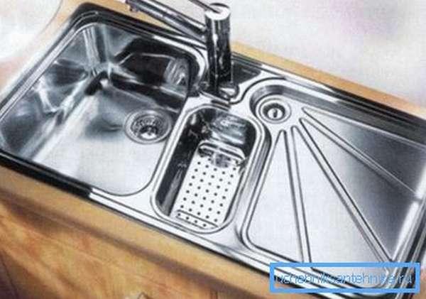 Кухонная железная раковина
