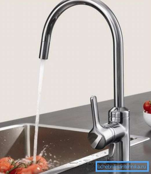 Кухонный смеситель для безнапорных водонагревателей