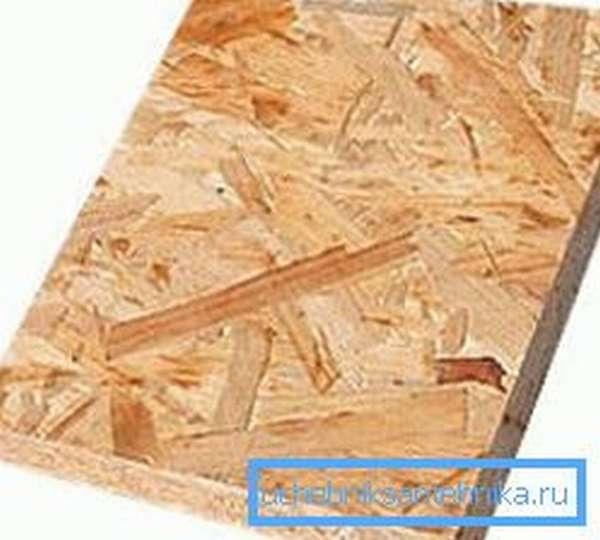 Кусок ориентированно-стружечной плиты (ОСП)