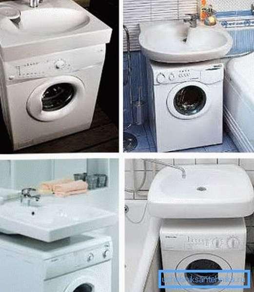 Кувшинка раковина над стиральной машиной экономит пространство санузла