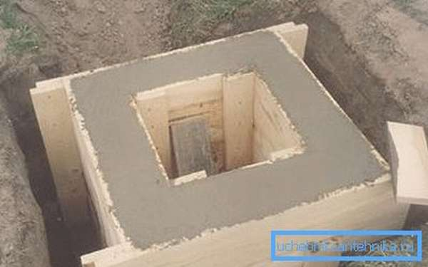 Квадратные бетонные колодцы подходят для монолитной заливки лучше всего