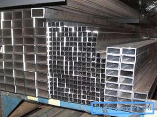 Квадратный и прямоугольный алюминиевый профиль