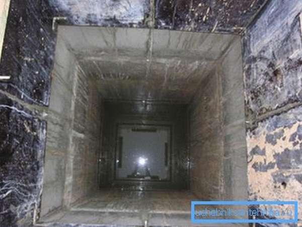 Квадратный монолитный колодец из бетона