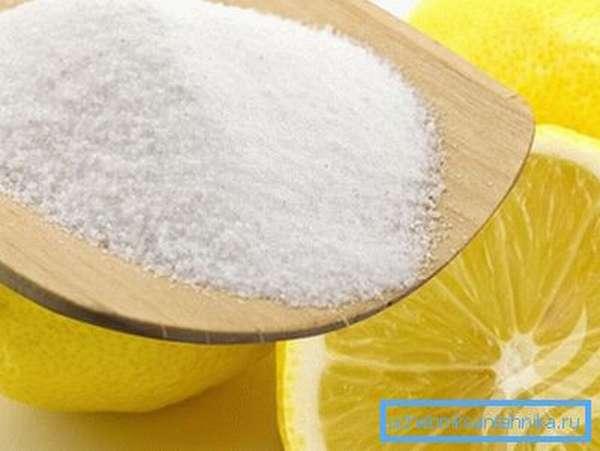 Лимонная кислота – прекрасное сочетание абразива и химического реактива.