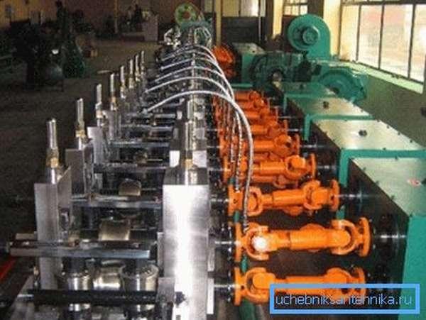 Линия производства профильных труб