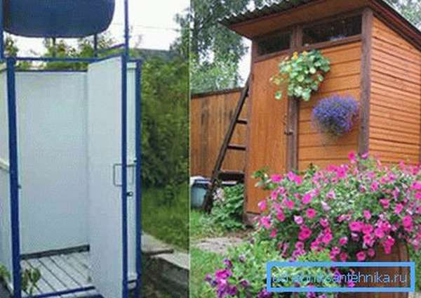 Любительские фото простейших конструкций подобного типа, которые часто используют на дачных участках