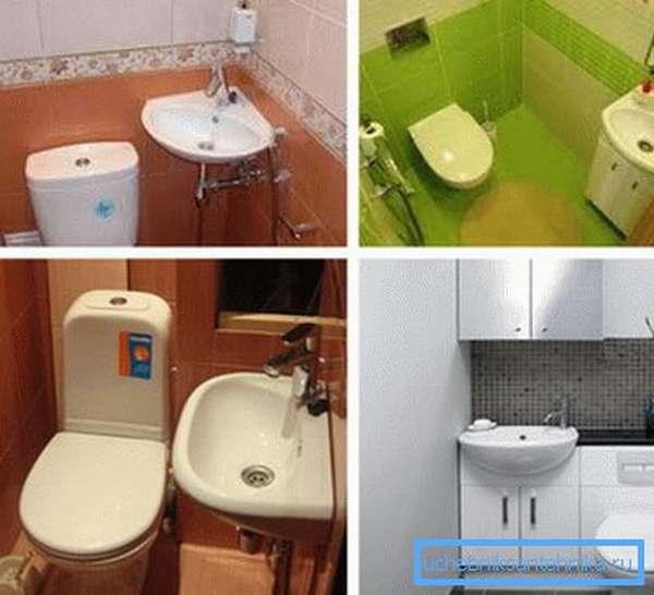 Маленькие раковины для туалета разного типа