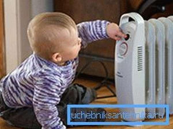 Масляные обогреватели не рекомендуется ставить в помещении, где есть маленькие дети
