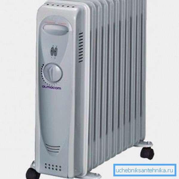 Масляный радиатор на 7 секций YL-A06-F-7 с вентилятором