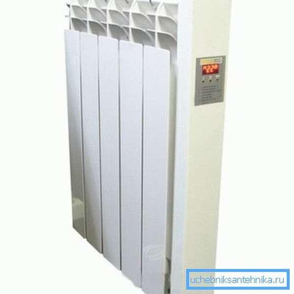 Масляный радиатор отопления электрический настенный