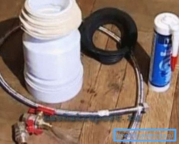 Материалы, необходимые для подключения унитаза к инженерным сетям дома