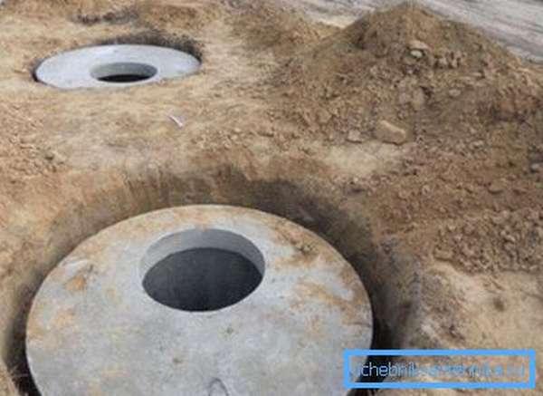 Местная канализация из железобетонных колец