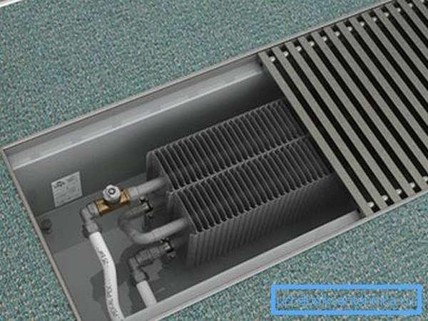 Металлические приборы, встроенные в пол – современный вариант отопительной системы вашего дома
