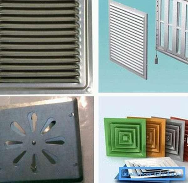 Металлические решетки для вентиляции разной формы и назначения