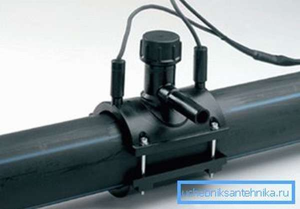 Монтаж электросварного седлового отвода