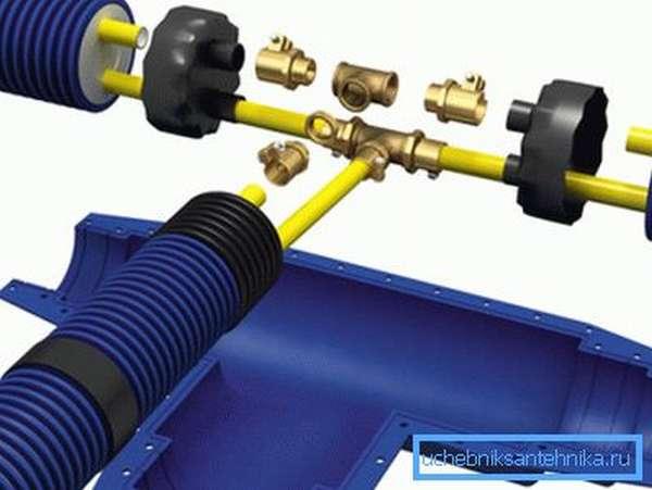 Монтаж трубопровода с напрессовочными фитингами.