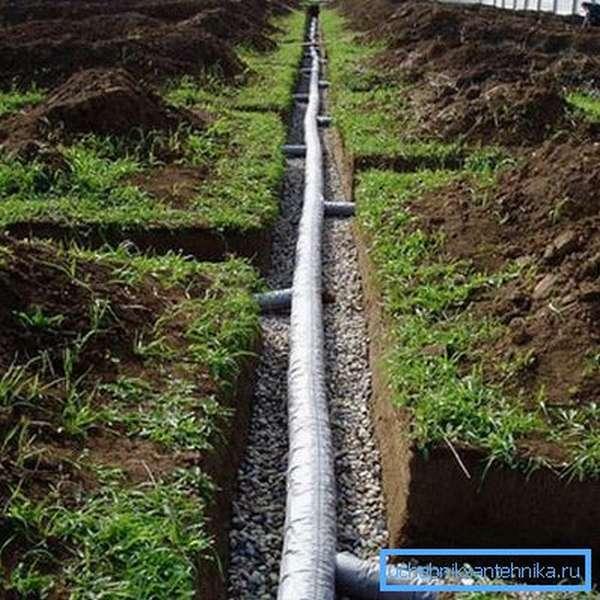 Монтаж водоотводящей системы на участке