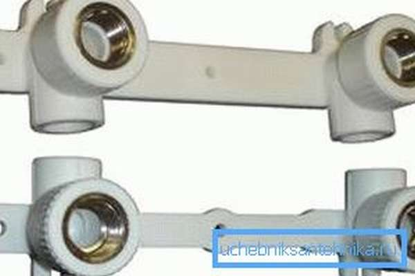Монтажные планки под смеситель для полипропиленовых труб
