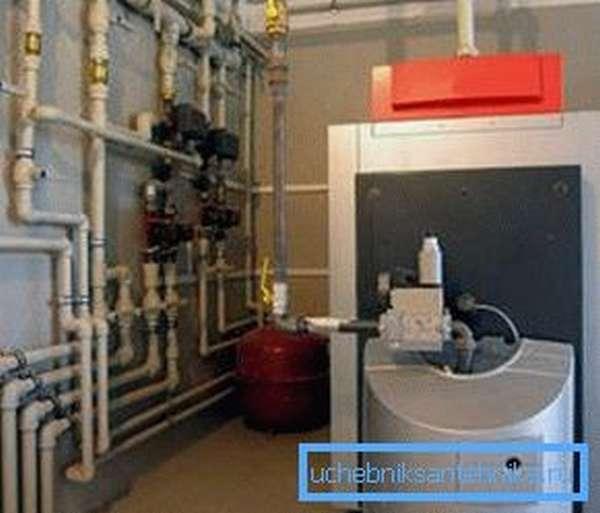 На данном фото вы можете увидеть, как выглядит газовый котел