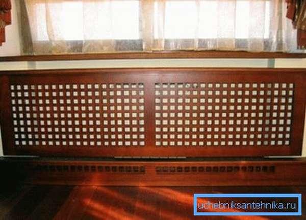 На фото – деревянный защитный экран
