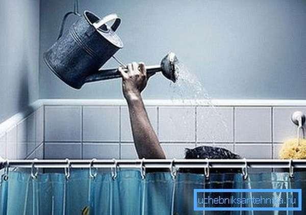 На фото – экстремальный душ