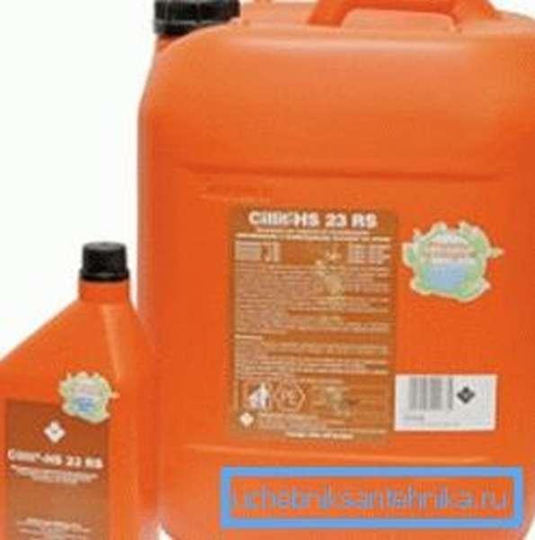 На фото – химические реагенты для очистки системы отопления