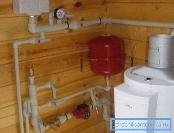 На фото изображен газовый водонагреватель.