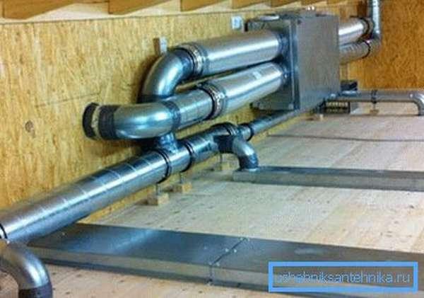 На фото – канальная система вентиляции