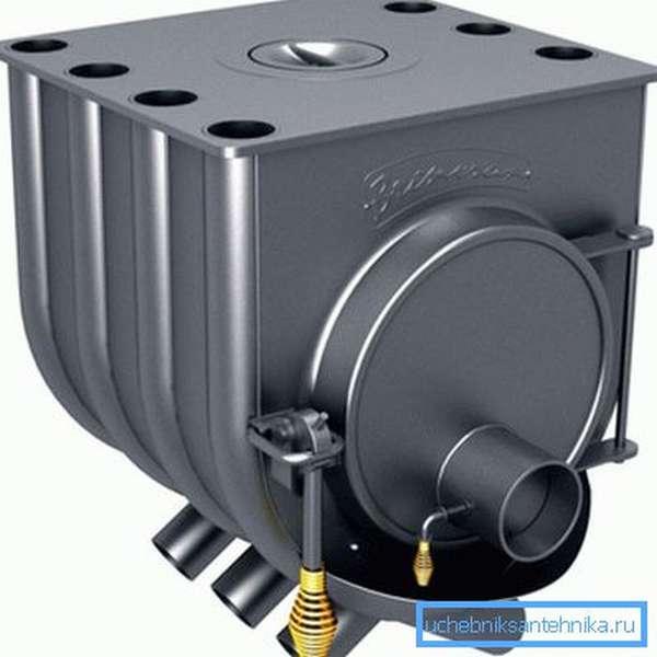 На фото - печь газогенераторного типа