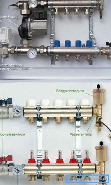 На фото показаны основные элементы, спрятанные в коллекторном шкафчике