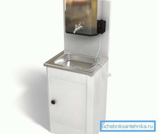 На фото: популярная линейка дачных автономных водонагревателей носит название «Мойдодыр», ее отличает крайняя простота устройства и привлекательный внешний вид