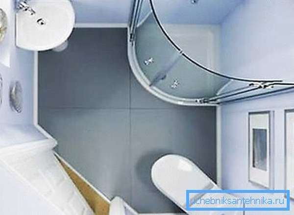 На фото - пример оформления малогабаритного помещения