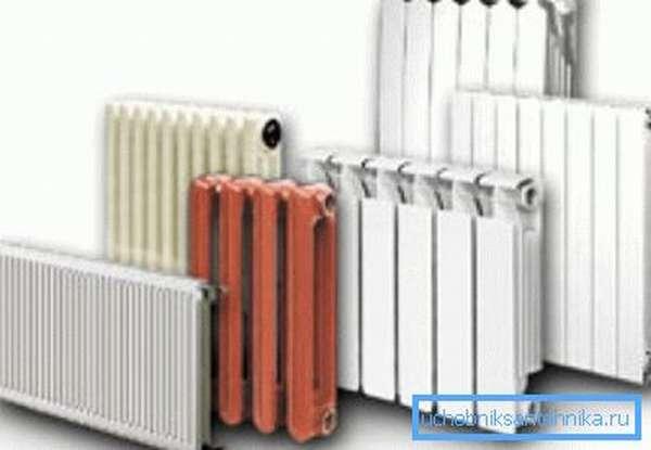 На фото – радиаторы водяного отопления