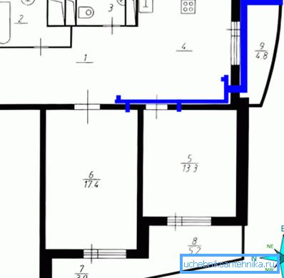 На фото – схема приточной квартирной вентиляции