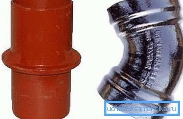 На фото – слева трубопровод SMU, справа – SME