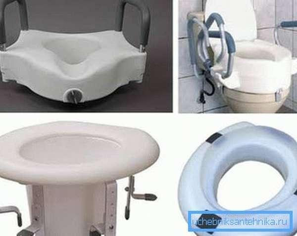 На фото – специальные санитарные приспособления для туалета