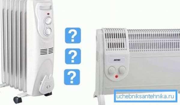 На фото: сравнение конвектора и масляного радиатора поможет вам решить, что лучше именно для ваших условий использования
