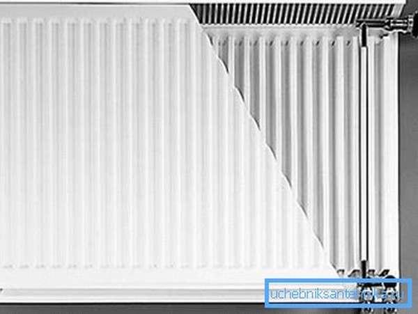 На фото – стальной радиатор отопления