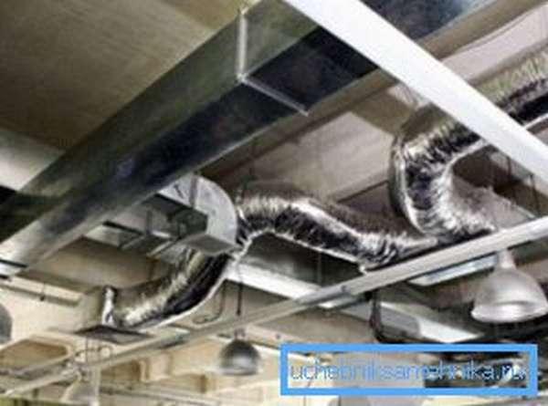 На производстве используются исключительно стальные воздуховоды
