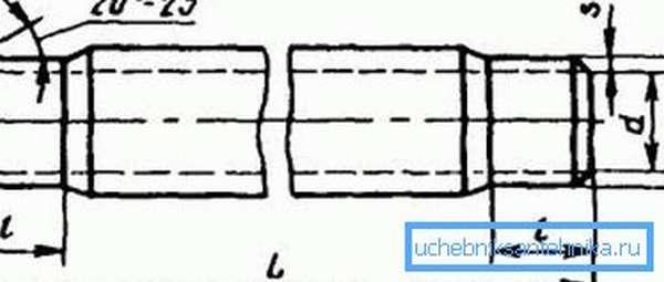 На рисунке приведен правильный угол наружной расточки