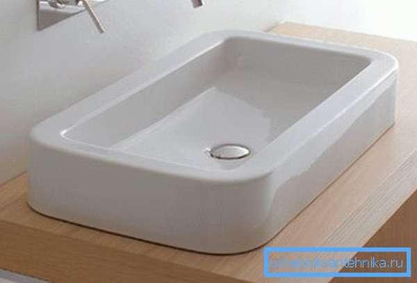 Накладной резервуар для мытья рук