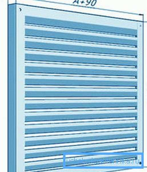 Накладные металлические вентиляционные решетки