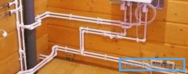 Наружная разводка холодной воды, ГВС и отопления полипропиленом