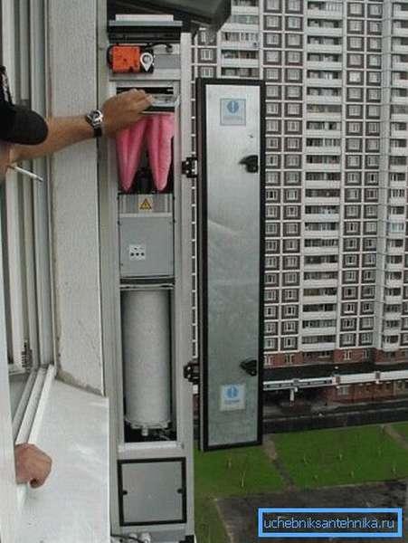 Наружный блок вентиляции