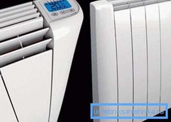 Настенные электрические радиаторы отопления.