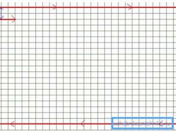 Некоторые специалисты советуют наносить на план помещения специальную сетку в масштабе, по которой намного проще производить расчеты