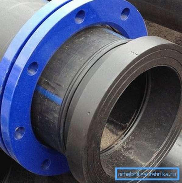 Некоторые виды пластиковых труб выпускают с установленными на них фланцами, а их торцы имеют определенную форму