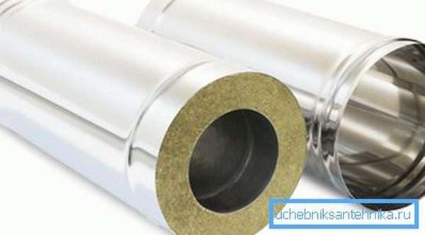 Некоторые виды подобных изделий выпускают в двухслойном варианте, размещая внутри утеплитель, который послужит защитой от нагрева наружной стенки