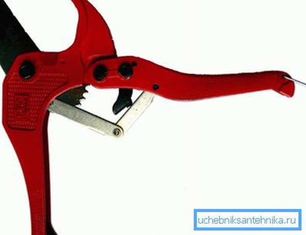 Ножницы для резки полимерных труб
