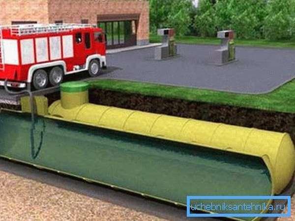 Объем резервуара для воды рассчитывается индивидуально в зависимости от специфики того или иного объекта